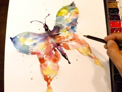 How to Paint a Butterfly : Watercolor Techinique