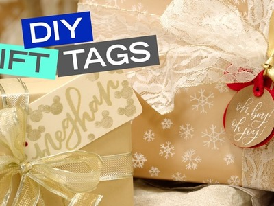 Mickey Mouse DIY Holiday Gift Tags   Be Our Guest   Disney Style