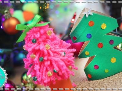 Mini Arbolitos de Navidad 2 Ideas MUY FACIL