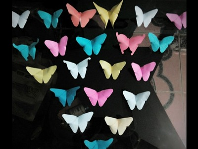 Origami Butterfly: How to make easy pepar craft-Bahar Art 1