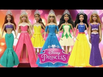 "Play Doh Dresses ""Disney Princess"" Ariel Tiana Cinderella Snow White Aurora Belle Rapunzel"