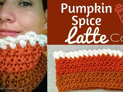 Pumpkin Spice Latte Cowl | Crochet Jasmine Stitch | Holidays 2016 DIY Gift Idea