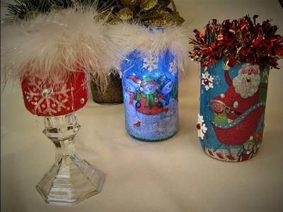 Recycled Jar Christmas Decoration ~ Featuring Miriam Joy