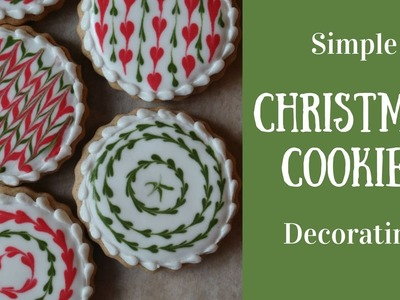 Simple Christmas Cookie Decorating