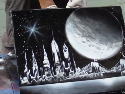 Spray Paint art by Amazing Street Artist - NYC Times Square - HD #10