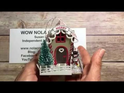 Stampin' Up! Home Sweet Home Christmas Ornament