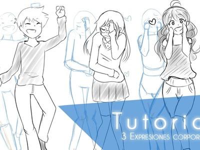 Tutorial ۰•●Aprende a dibujar 3 tipos de poses!●•۰ #1 Expresiones corporales.