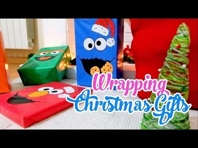 Wraping Christmas Gifts ideas -  Sesame Street - Isa ❤️