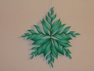 3D Snowflake DIY Tutorial - How to Make 3D Paper Snowflake for Christmas & homemade decorations