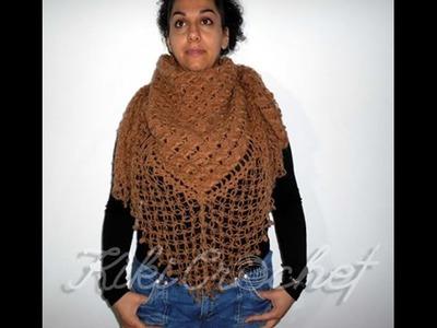 Crochet Crossed Shell Stitch Shawl (pt2)