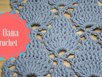 Crochet leaf stitch- by Oana