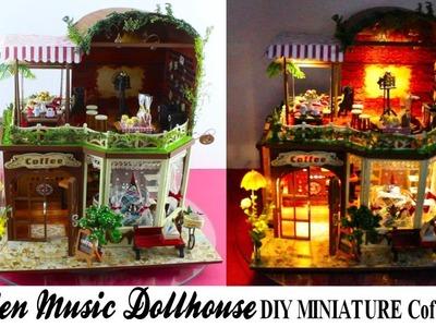 DarlingDolls ♥ Wooden Music Dollhouse DIY Miniature Coffee Shop!