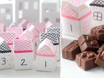 DIY Advent Calendar Village & Gingerbread Truffles | RECIPE
