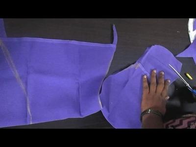 ✔ DIY (BLOUSE MEASURING - MATERIAL CUT -  CROSS CUT) பிளவுஸ் க்ராஸ் கட்