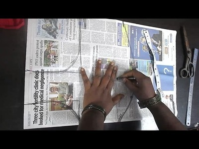 ✔ DIY (BLOUSE MEASURING - PAPER CUT (CROSS CUT)) பிளவுஸ் க்ராஸ் கட்