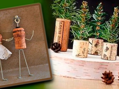 DIY Christmas Decor. Crafts from wine corks