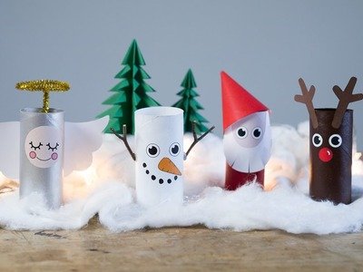 DIY: Christmas landscape from paper rolls by Søstrene Grene