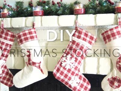 DIY Christmas stocking - Fireplace decor