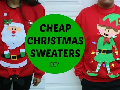 DIY CHRISTMAS SWEATER | angel