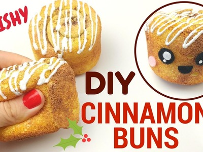 DIY Cinnamon Bun SQUISHY tutorial.Kawaii Cinnamon Roll. Easy Squishy