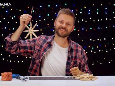 DIY Clothespin Star Ornaments