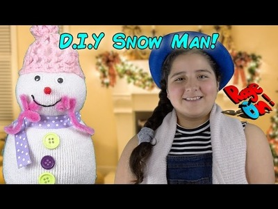 DIY Craft snowman home made with no snow FOR KIDS! Manualidades para niños hombre de nieve