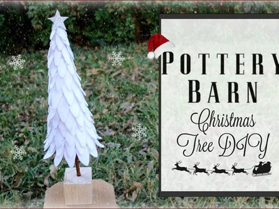 DIY FELT CHRISTMAS TREE. Christmas Pottery Barn Hacks