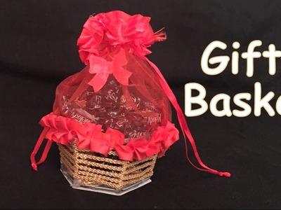 DIY - How to make beautiful gift basket? Christmas gift basket. Handmade