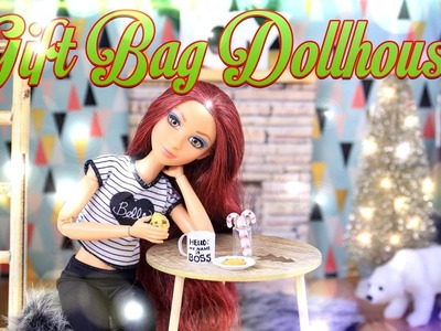 DIY - How to Make: Gift Bag Dollhouse Craft - Holiday Gift Ideas - 4K