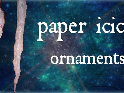 Diy: how to make paper icicle ornaments with tissue paper| winter.christmas craft decor