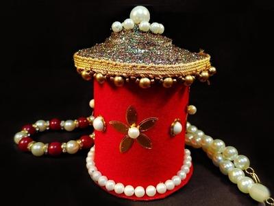 DIY Jewellery Box Using Paper , Glitter & Stones