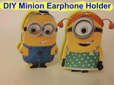 DIY Minions Earphone Holder