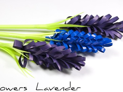 DIY Paper Flowers | How to make lavender paper flower