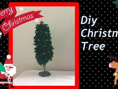 DIY tabletop christmas tree easy from woolen 2016 I handmade christmas Tree yarn