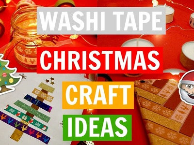 DIY - WASHI TAPE CHRISTMAS CRAFT IDEAS ! | Easy & Fun | LifeAsNastia