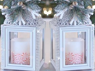 Glittery Holiday Lantern! DIY Christmas Decorations!!