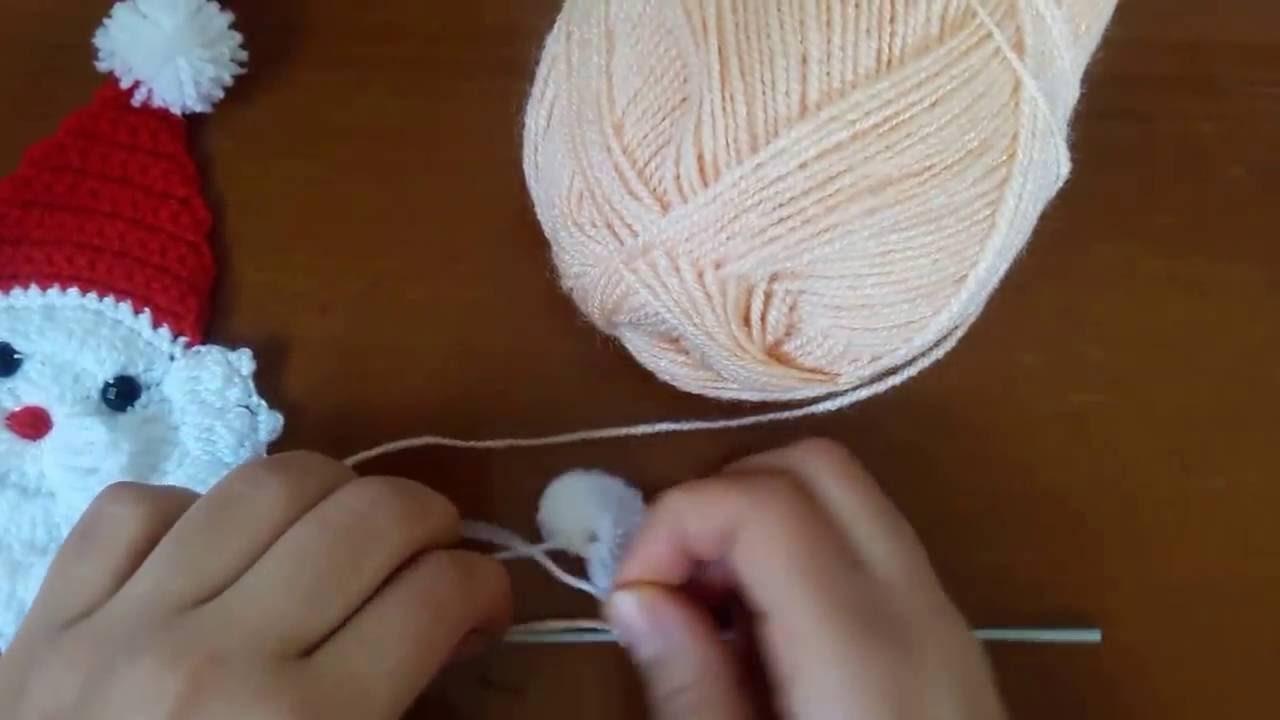 How to Crochet a Santa Ornament | HD new 2016