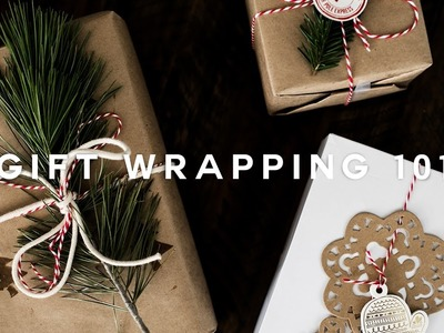 How To: DIY Minimal Gift Wrapping for the Holidays! ❄️