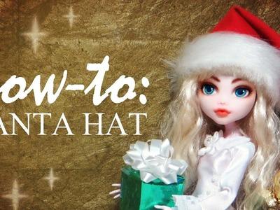 How To: Festive Doll Santa Hat Tutorial DIY