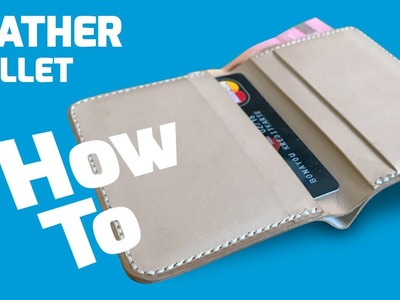 How-To: Hand stitch a leather bi-fold wallet