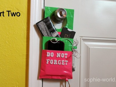 How to Make a Duct Tape Door Knob Organizer - Part 2 | Sophie's World
