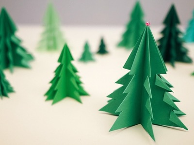 How to make a paper Christmas tree 3D