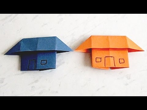 How to Make a Paper Home, House | Kids Paper Arts and Crafts