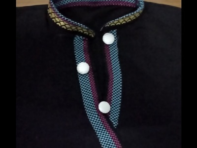 How to make Chinese collar for suit