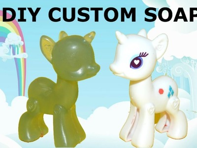 How to make cute MLP custom made soap using resin casting. My Little Pony craft toy soap. HD