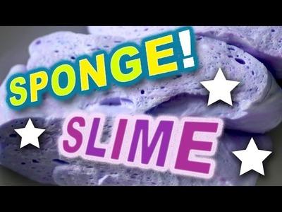 How to Make Fluffy Sponge Slime - DIY