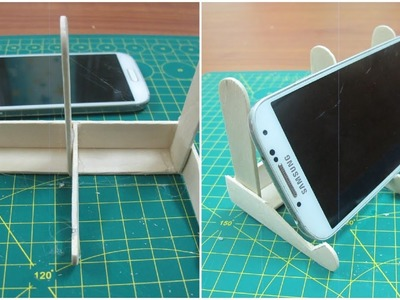 How to make iphone stand with popsicle sticks   DIY using popsicle sticks