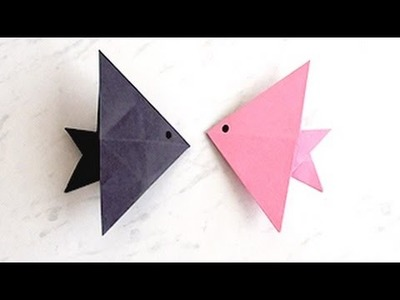 How to Make Paper Fish   Creating Paper Fish, Paper Art and Craft for Kids