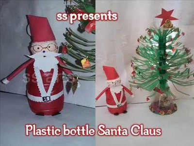 How to make Santa Claus with plastic bottle.Christmas decoration.PLASTIC BOTTLE AND FOAM SANTA