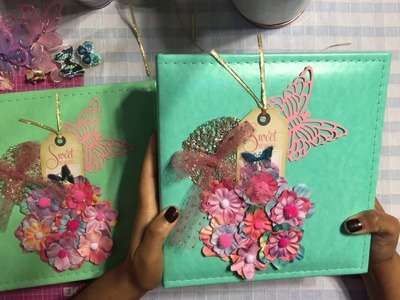 How to Make Scrapbook Album Cover, DIY Pregnancy Journal Cover - Unique Handmade Gifts